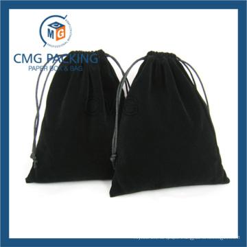 China Supplier Travel Custom Drawstring Velvet Jewelry Bag (CMG-Velvet bag-004)