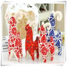 Jouets manuels d'antilope de chèvre de tissu de coton pour le cadeau de promotion