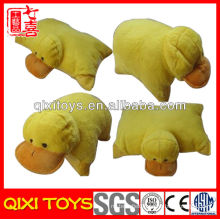 Foldable animal shaped stuffed plush pillow, plush animal shaped pillow, plush insect shaped pillow