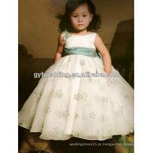 2012 novo estilo de qualidade fitas marfim laço flor menina vestidos 2012168526
