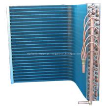 Bobina do condensador de cobre com alumínio revestido de barbatanas