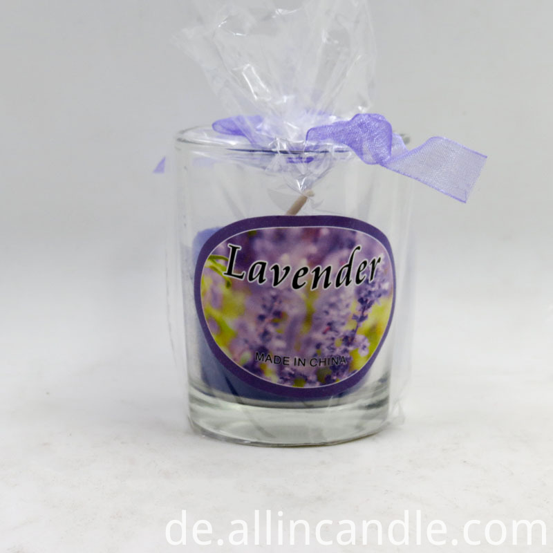 scented glass candle