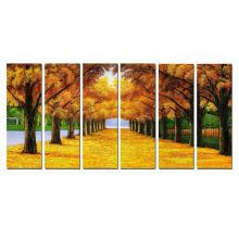 Dropship Autumn Beauty Árvores giclee imprime para casa decor 6pcs set