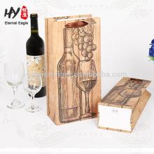 Bolso de vino de embalaje de papel personalizado impreso logotipo