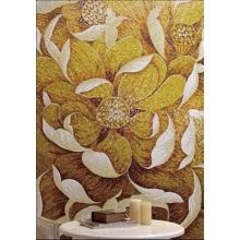 Colorful Flower Pattern Glass Mosaic Brick Wall Mural
