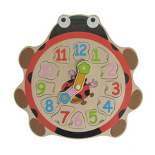 Wooden Ladybird Educational Toys Wooden Clock Puzzle