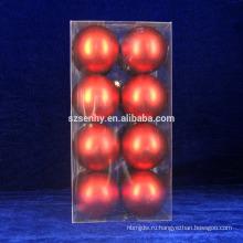 Красный Горячий Небьющиеся 4-Закончить Рождественские Украшения Мяч