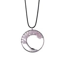 Tumbled Stone Quartz Wire Wrapped Jewelry Necklace