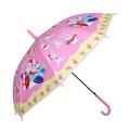 Auto Open Kaninchen Druck Pink Kinder Umbrella (SK-01)