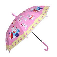 Auto Abra coelho impressão rosa crianças guarda-chuva (SK-01)