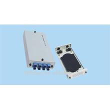 Painel de remendo de fibra óptica de 8 portas de montagem em parede, estrutura de distribuição de fibra óptica de ST,