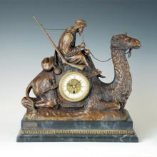 Statue de l'horloge Elder Camel Bronze Sculpture Tpc-012