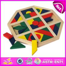 2014 nouveaux jouets en bois de puzzle de bébé, jouets de casse-tête de bébé de bloc en bois de haute qualité, jouets en bois de puzzle de bloc de bois de vente chaude W13A050