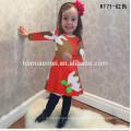 Ropa de bebé de Navidad manga larga Flor hermosa Vestido colorido Niñas Niños