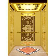 Elevador de pasajeros Ascensor Espejo de oro de alta calidad grabado Aksen Ty-K158