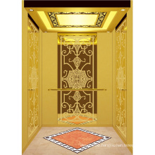 Passenger Elevator Lift High Quality Gold Mirror Etched Aksen Ty-K158