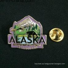 Insignia del metal del árbol con el Pin de seguridad, insignias personalizadas baratas