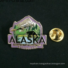 Tree Metal Badge with Safety Pin, Cheap Custom Badges