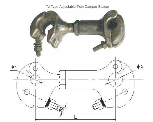TJ Adjustable Damper Spacer