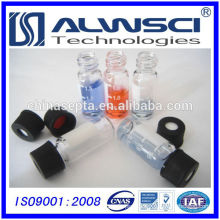 China manufacturer 2ML Clear Autosampler Glass Vial with label suitable with caps, Shimadzu