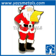 customize Christmas Santa Claus metal ornament pin plate