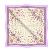 Kerchief Flower Pattern en soie Chiffon en toile imprimée
