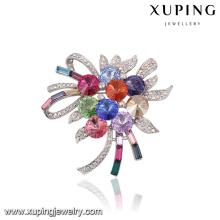 00049 Ramos románticos de boda Xuping con broche, cristales de lujo de Swarovski