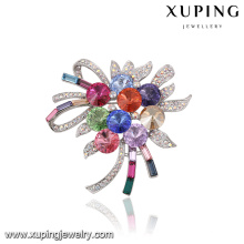 00049 Xuping romantic wedding bouquets with brooch, luxury Crystals from Swarovski