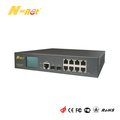 Gigabit 8 Port PoE Switch Managed With LCD