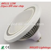 CE Approbation RoHS Epistar Led Chip 12w SMD5630 ar111 Spot à LED G53 / Gu10