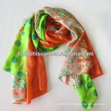 Animal print polyester thin summer scarf