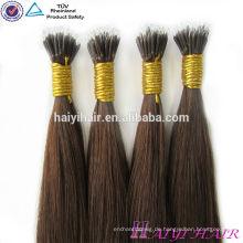 Alibaba Wholesale Remy Hight Grade-Haar-Jungfrau Remy Haar Ombre Nano-Korn-Menschenhaar-Erweiterungen