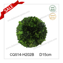D15cm Party Supplies Feuilles fraîches Boxwood Globe Wall Art