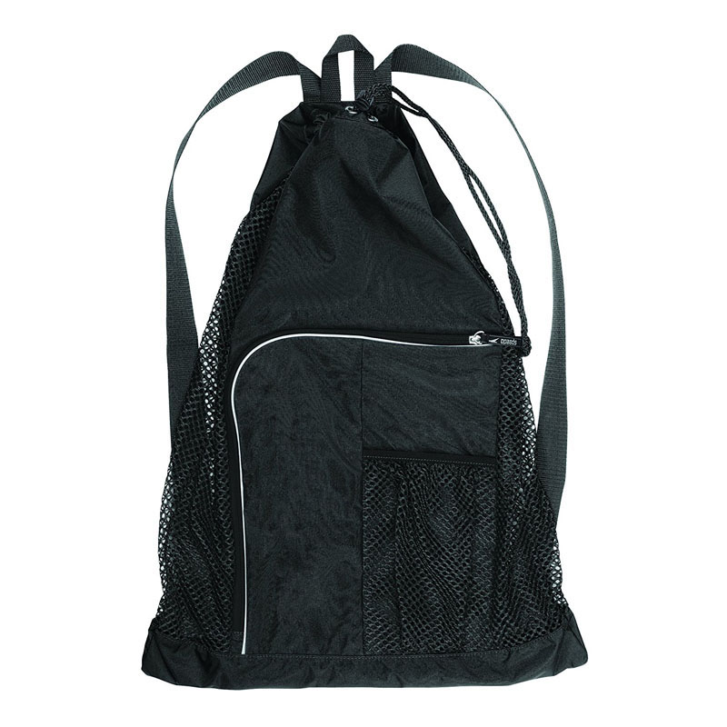 Black Deluxe Mesh Equipment Backpacks