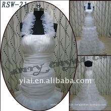 RSW-21 Venda Por Atacado 2011 New Design Ladies Fashionable Elegante halter Beautiful Ruffle Customized A-line Bridal Dress