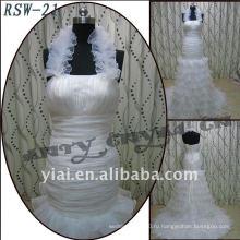 РСВ-21 оптом 2011 новый дизайн дамы модные элегантные красивые холтер рюшами индивидуальные-line свадебное платье