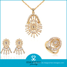 Top-Qualität Fabrik Hersteller Gold Farben Halskette Set (J-0057)