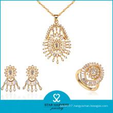 Top Quality Factory Manufacturer Gold Colors Necklace Set (J-0057)