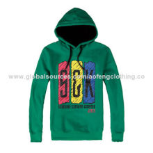 Men's pullover cotton hoodies, a young man in the street choice