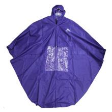 Fashion pvc Polyester Rain Poncho