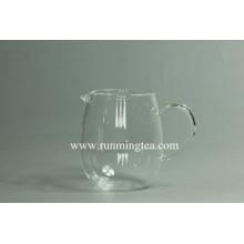 Livremente projetado logotipo sobre o vidro teaware