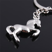 Stainless steel Metal Horse Key chain