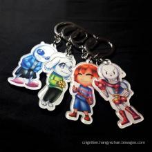 Personalized Blank Disc Monogrammed Anime Charm Printed Clear Acrylic Keychain Custom