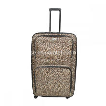 Fashion Leopard Skriv ut Softshell Trolley Bagage