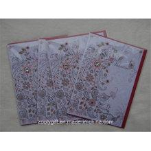 Diamante decorado hecho a mano de papel de arte tarjeta de felicitación de felicitación para el día de San Valentín