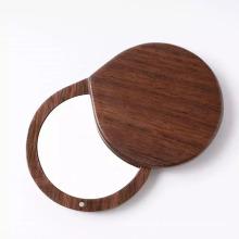 runder Damen-Schönheits-Holz-Handtaschenspiegel