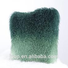 En gros 45x45cm Coussin d'agneau Tibet naturel et teint