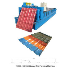 Máquina de formação de rolos para telhas revestidas de metal