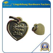 Heart Design Antique Color Pendant