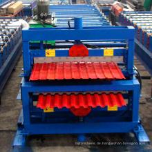 Doppelschicht Computer-Kontrolle Doppelschicht Metall Dachziegel Farbe Stahl Roll Formmaschine zum Verkauf